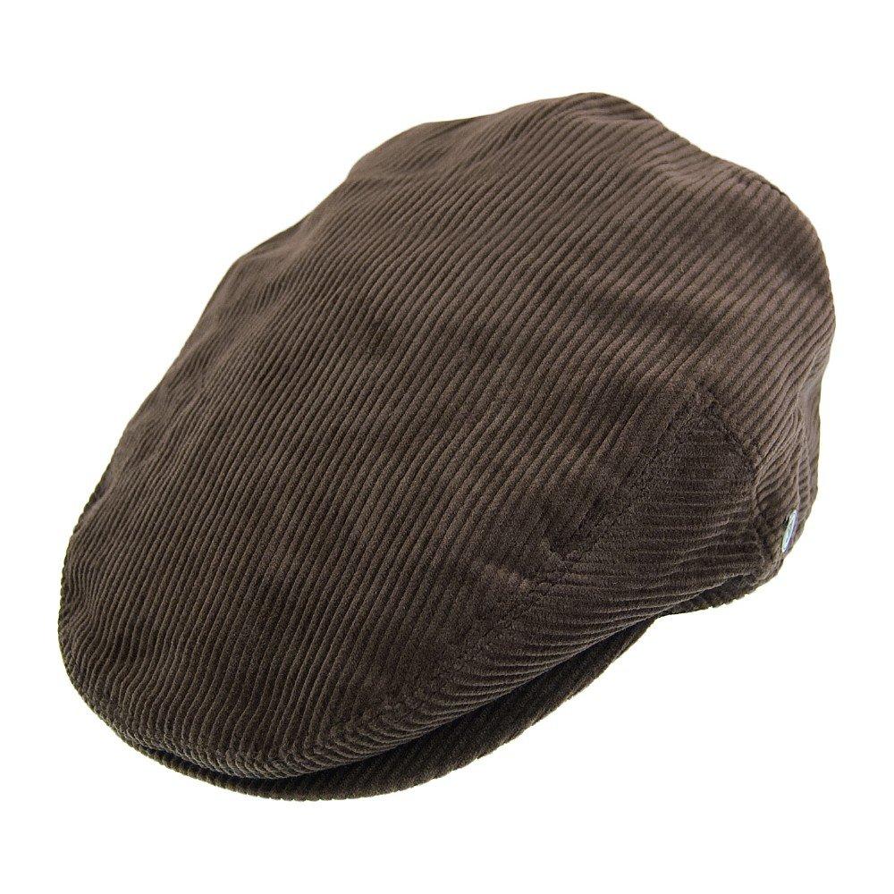 Gubbkeps Flat Cap Jaxon Hats Corduroy Flat Cap Brun