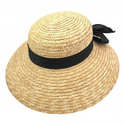 Hatter - Milan Boater Straw Sun Hat (natur)