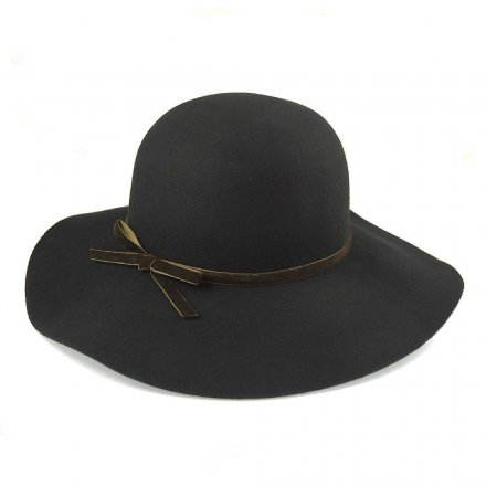 Hatte - Vintage Wool Floppy Hat (sort)