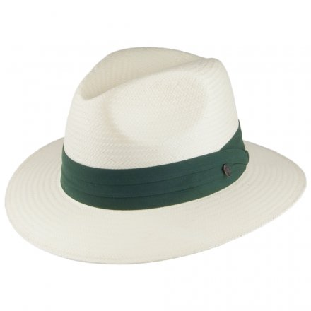 Hattar - Toyo Safari Fedora With Olive Band (vit)