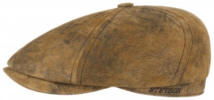 Gubbkeps / Flat cap - Stetson Brooklin Leather (brun)