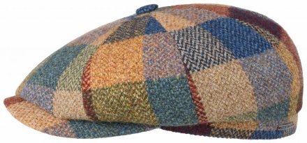 Gubbkeps / Flat cap - Stetson Hatteras Lambswool Patchwork (multi)