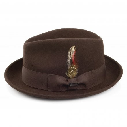 Hattar - Crushable Blues Trilby (brun)
