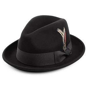 Hattar - Crushable Blues Trilby (svart)