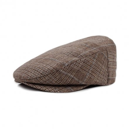 Sixpence / Flat cap - Brixton Barrel (brown plaid)
