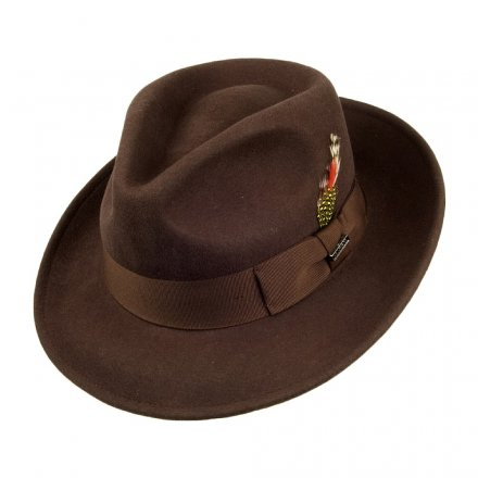 Hattar - Crushable C-Crown Fedora (brun)