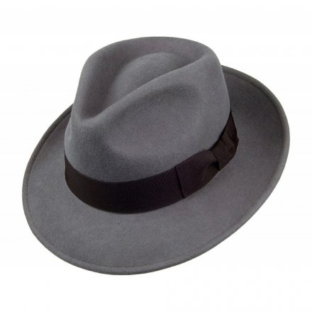 Hattar - Crushable C-Crown Fedora (grå)