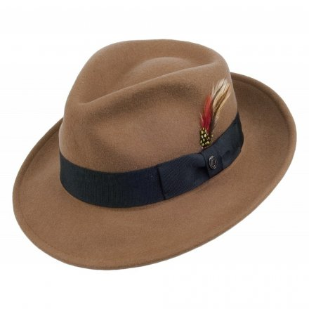 Hattar - Crushable C-Crown Fedora (ljusbrun)
