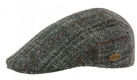 Gubbkeps / Flat cap - MJM Country Harris Tweed Check (grå)