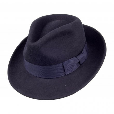 Hattar - Crushable C-Crown Fedora (marinblå)