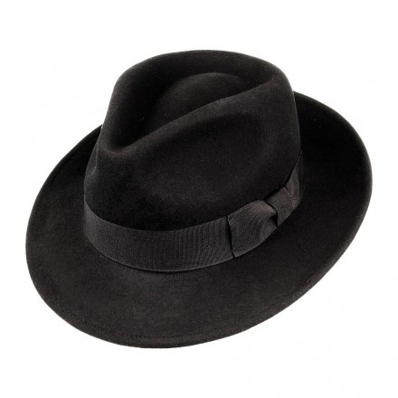 Hattar - Crushable C-Crown Fedora (svart)
