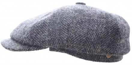 Sixpence / Flat cap - Mayser Seven Plus Harris Tweed (grå)
