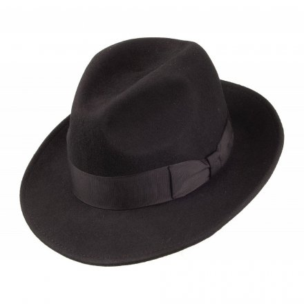Hatte - Crushable Pinch Crown Fedora (sort)