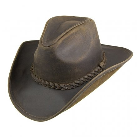 Hatte - Jaxon Hats Buffalo Leather Cowboy (brun)