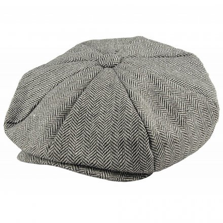 Kaps - Jaxon Hats Herringbone Big Apple Cap (grå)