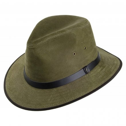 Hatte - Nubuck Leather Safari Fedora (olive)