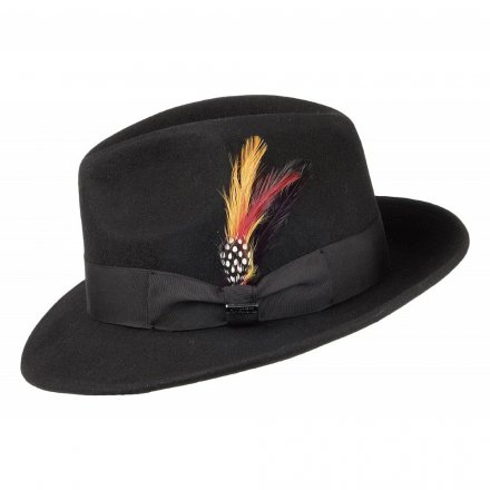 Hattar - Crushable Pinch Crown Fedora (svart)
