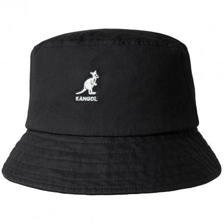 Hattar - Kangol Washed Bucket (svart)