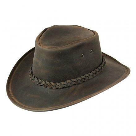 Hattar - Jaxon Hats Crushable Leather Outback (brun)