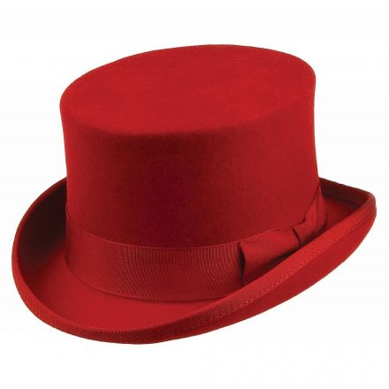 Hattar - Jaxon Mid-Crown Top Hat (hög hatt) (röd) 38eead7278a6a