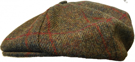 Sixpence / Flat cap - Lawrence and Foster York (mørkegrønn tweed)
