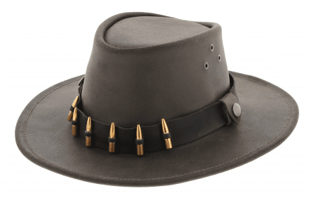 Hattar - Jacaru Hunter Oiled Leather Hat (brun)