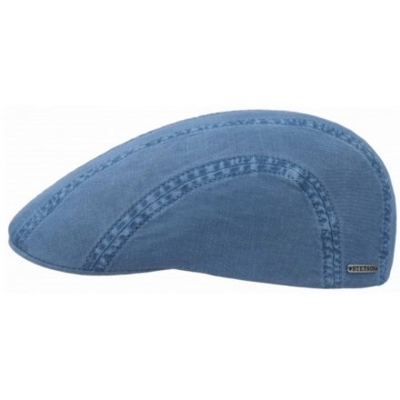 Gubbkeps / Flat cap - Stetson Madison Cotton (blå)