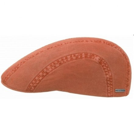 Gubbkeps / Flat cap - Stetson Madison Cotton (orange)