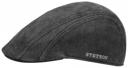 Gubbkeps / Flat cap - Stetson Madison Old Cap Winter (svart/grå)