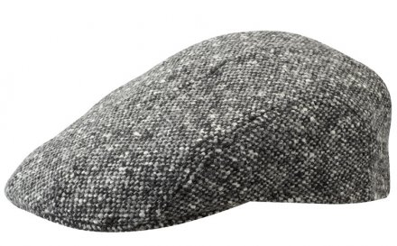 Sixpence / Flat cap - Stetson Ivy Cap Donegal Tweed (sort-hvit)