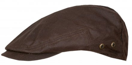 Sixpence / Flat cap - Stetson Driver Cap Waxed Cotton (brun)