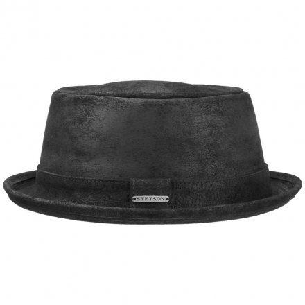 Hattar - Stetson Hobbs Leather (svart)