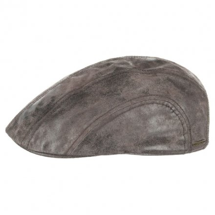 Gubbkeps / Flat cap - Stetson Madison Leather Flat Cap (brun)