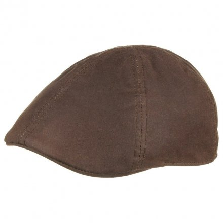 Sixpence / Flat cap - Stetson Texas Waxed Cotton (brun)