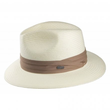 Hattar - Toyo Safari Fedora With Khaki Band (vit)