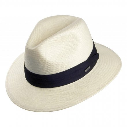 Hattar - Toyo Safari Fedora With Black Band (vit)