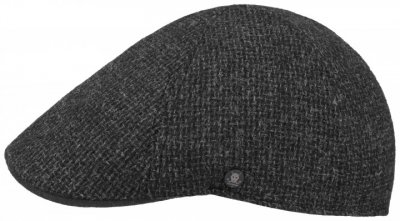 Gubbkeps / Flat cap - Stetson Texas Wool Rough (antracit)