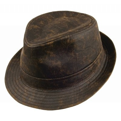 Hattar - Jaxon Weathered Cotton Trilby (brun)