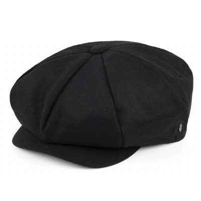 Gubbkeps / Flat cap - Jaxon Big Apple Cap (svart)