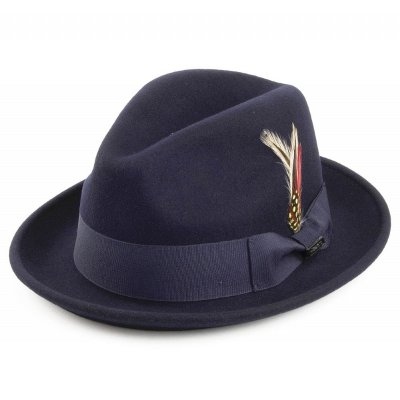 Hattar - Crushable Blues Trilby (marinblå)