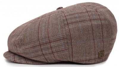 Gubbkeps / Flat cap - Brixton Brood (taupe plaid)