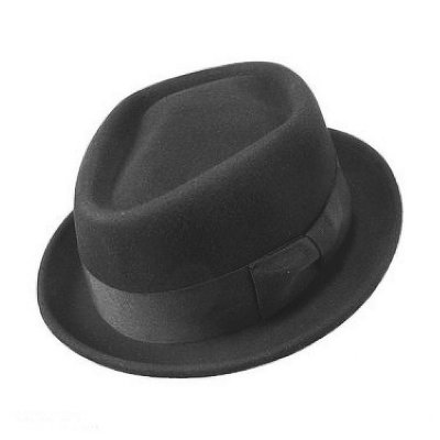 Hattar - Diamond Crown Pork Pie Hat (svart)