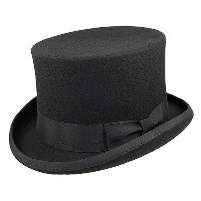 hattar mid crown top hat hög hatt svart jaxon herrhattar 1a6dffb5fae39