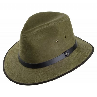 Hattar - Nubuck Leather Safari Fedora (oliv)