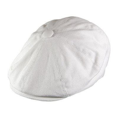 Gubbkeps / Flat cap - Jaxon Hats Pique Cotton Knit Newsboy Cap (vit)