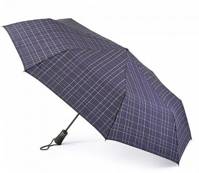 Paraply - Fulton Open & Close Jumbo-2 (Navy Plaid)