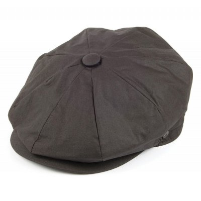 Gubbkeps / Flat cap - Jaxon Hats Oil Cloth Newsboy Cap (brun)
