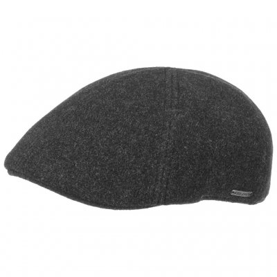Gubbkeps / Flat cap - Stetson Texas Wool/Cashmere (antracit)
