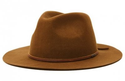 Hattar - Brixton Wesley Packable Fedora (light tan)