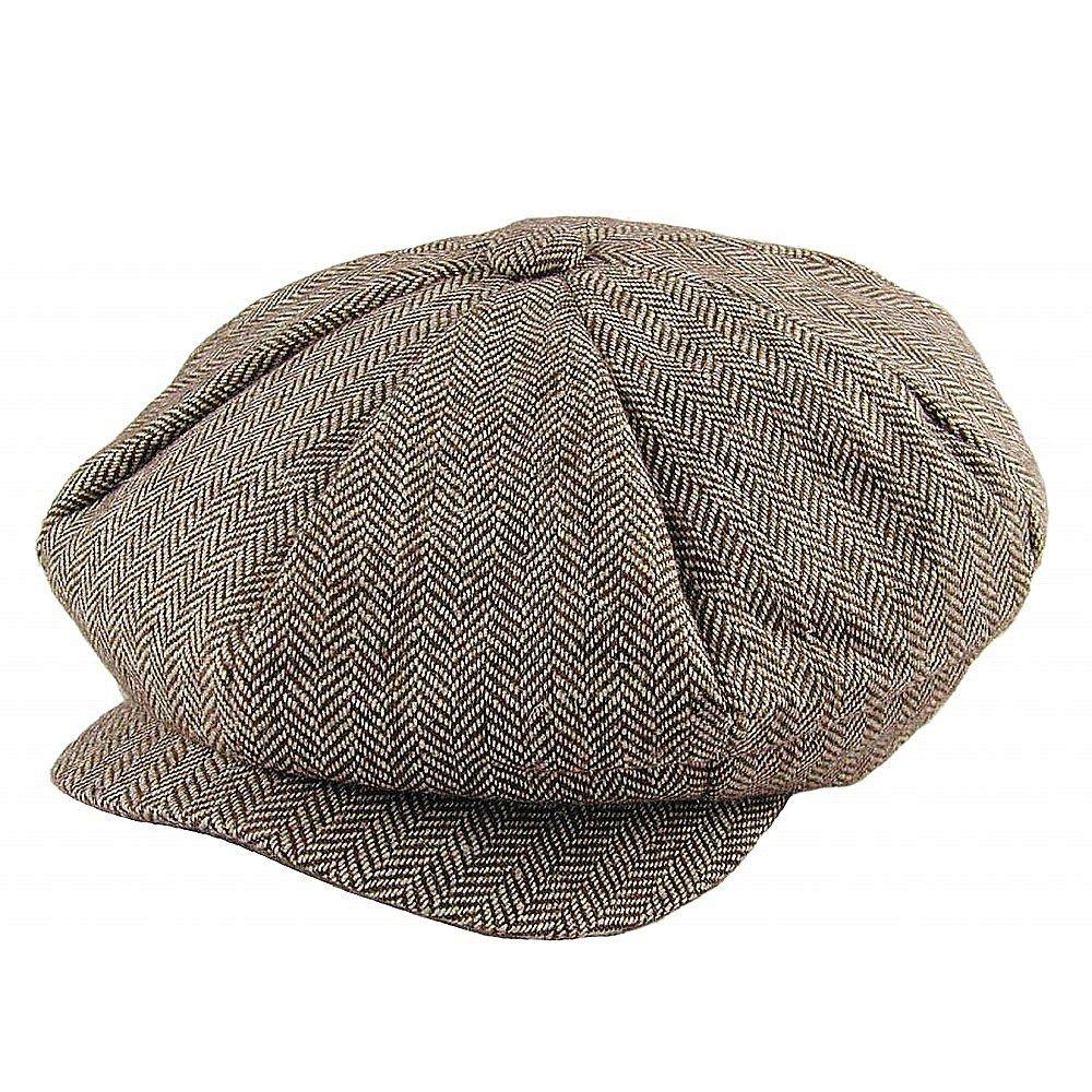 a8705842 Gubbkeps / Flat cap - Jaxon Herringbone Big Apple Cap (brun)